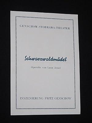 Programmzettel Genschow-Stobrawa-Theater um 1952. SCHWARZWALDMÄDEL von Leon: Genschow-Stobrawa-Theater, Leon Jessel