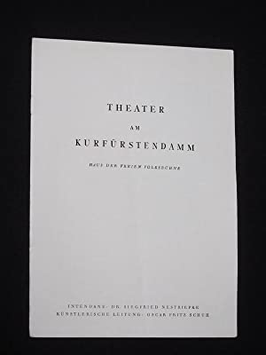 Programmheft Theater am Kurfürstendamm 1953/54. DER SCHWIERIGE: Theater am Kurfürstendamm,