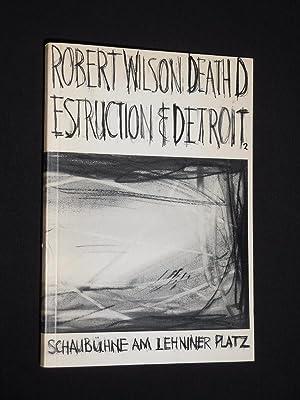 Programmbuch Schaubühne am Lehniner Platz 1986/87. DEATH: Red.: Schaubühne am