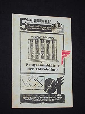 Programmblätter der Volksbühne, 4. Jgg., Heft 8, April 1929. Thalia-Theater 21. April 1929. OELRA...