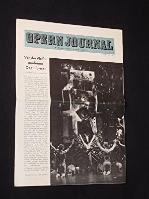 Das Opernjournal der Deutschen Oper Berlin [Opern-Journal]. Informationen, Bilder, Essays. Nr. 3,...