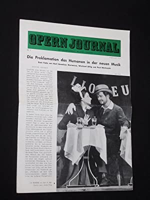 Das Opernjournal der Deutschen Oper Berlin [Opern-Journal]. Informationen, Bilder, Essays. Nr. 5,...
