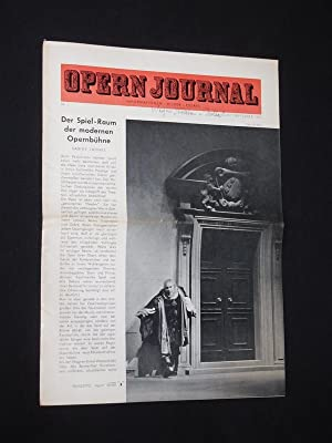 Das Opernjournal der Deutschen Oper Berlin [Opern-Journal]. Informationen, Bilder, Essays. Nr. 1,...