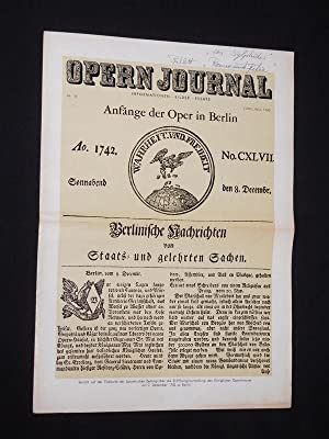 Das Opernjournal der Deutschen Oper Berlin [Opern-Journal]. Informationen, Bilder, Essays. Nr. 10...