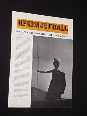 Das Opernjournal der Deutschen Oper Berlin [Opern-Journal]. Informationen, Bilder, Essays. Nr. 2,...