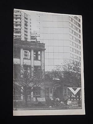 Programmheft Volksbühne Berlin, Rosa-Luxemburg-Platz 1981/82. Uraufführung BERLIN: Volksbühne Berlin, Rosa-Luxemburg-Platz,