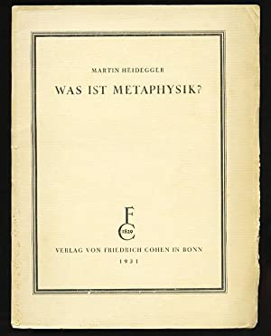 Was ist Metaphysik?: Heidegger, Martin