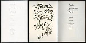 Frühe griechische Lyrik. Sappho, Alkaios, Anakreon, Korinna,: Rohse, Otto (Holzschnitte)