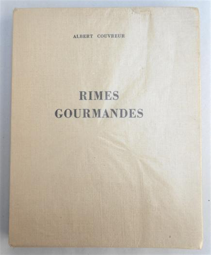 Rimes gourmandes. Couvreur, Albert.