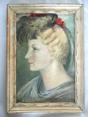 Emmy Göring. Portrait. Öl auf Holz montierter: Paraskewe von Bereskine