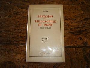 Principes de la Philosophie du Droit.: HEGEL.
