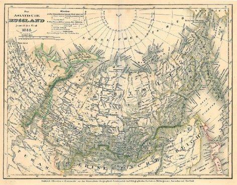 Karte Russland Asien.Russland Asiatischer Teil Karte