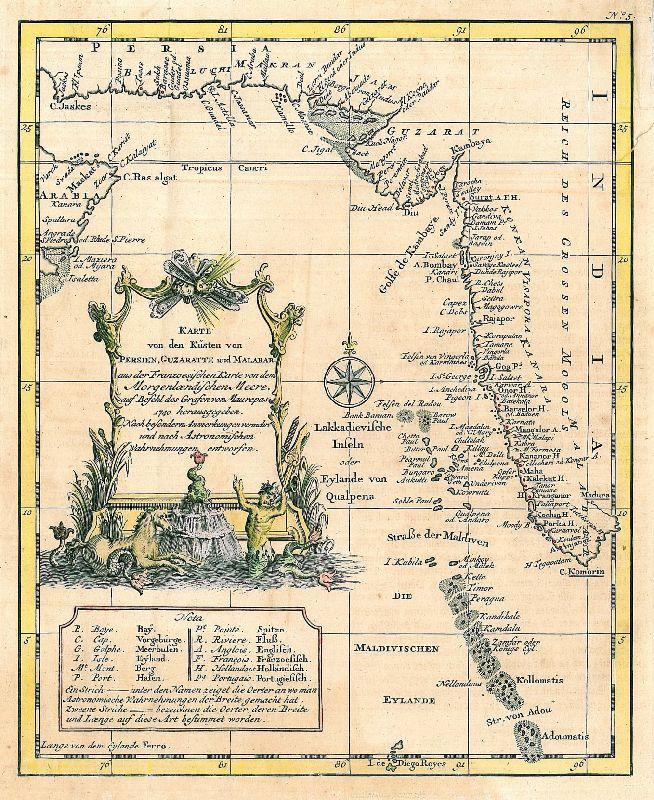 Persien Karte.Indien Karte Karte Von Den Küsten Von