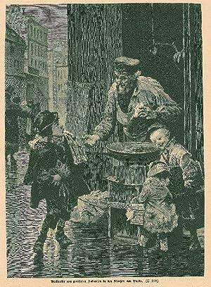"""KASTANIEN. - Verkauf. """"Verkäufer von gerösteten Kastanien in den Straßen von ..."""