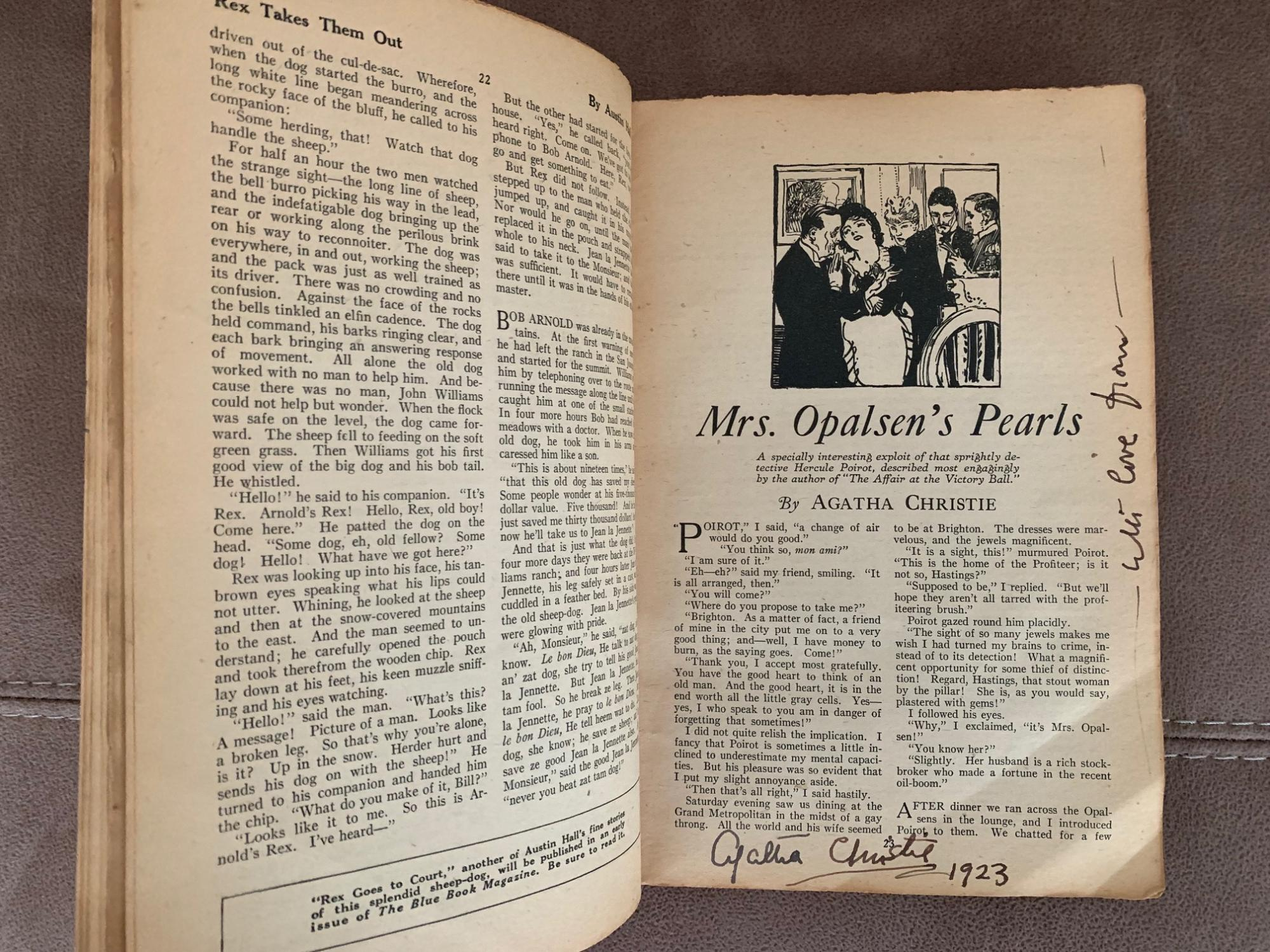 3 SIGNED AGATHA CHRISTIE STORIES FROM THE