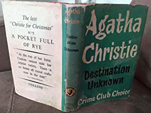 Destination Unknown.SIGNED by AGATHA CHRISTIE.: Agatha Christie. Signed