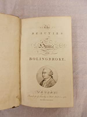 The Beauties of Hume and Bolingbroke. London,: Hume, David],