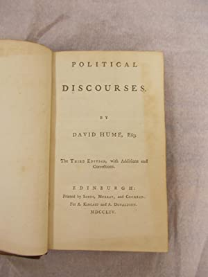 Political Discourses. Third Edition, with Additions and: Hume, David,