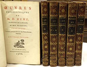 Oeuvres Philosophiques. Tome I-VII en 6. Nouvelle: Hume, David,