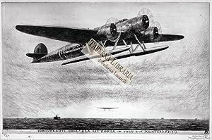 Idrovolanti dell'Ala Littoria in volo sul Mediterraneo.: Carbonati Antonio [Mantova