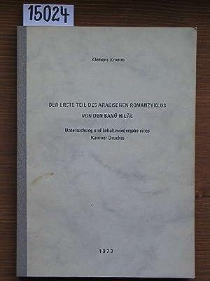 Der erste Teil des arabischen Romanzyklus von: Kramm, Klemens