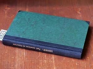 Fasti consulares imperii romani von 30 v.: Liebenam, Willy (Bearb.)