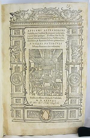 De Civilibus Romanoru bellis Historiarum libri quinque .: APPIANUS