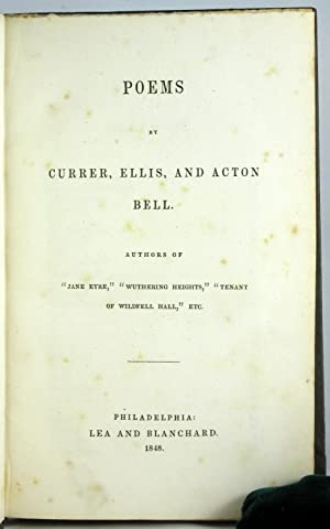 Poems by Currer, Ellis, and Acton Bell: BRONTE SISTERS