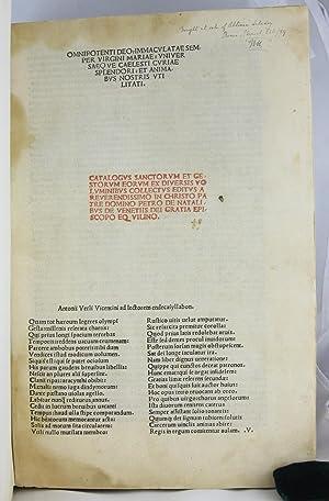 Catalogus Sanctorum et Gestorum eorum ex Diversis Voluminibus Collectu: Natalibus, Petrus de