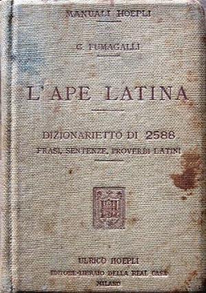 L'ape latina.: Fumagalli, Giuseppe