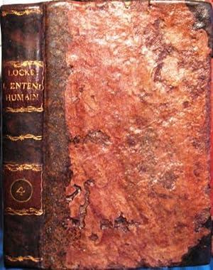 Essai Philosophique Concernant Lentendement Humain Locke John