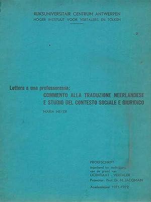 Lettera a una Professoressa: Commento alla traduzione: Meyer, Maria.