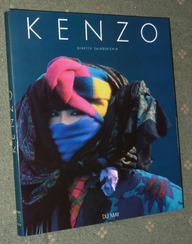 Kenzo Ginette Sainderichin Hardcover 144 p. in-4 carré reliure éditeur pleine toile noire kenzo en lettres or sous jaquette illustrée en couleurs trés nombreuses illustrations principalem