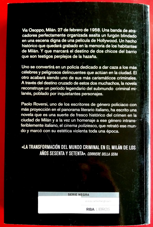 Milán Criminal by Paolo Roversi: RBA 9788490065617 Encuadernación de ...