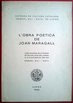 LA OBRA POÉTICA DE JOAN MARAGALL: SAMUEL GILI I