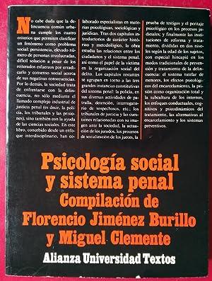 PSICOLOGÍA SOCIAL Y SISTEMA PENAL: FLORENCIO JIMÉNEZ BURILLO