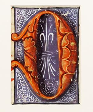 "Illuminated Manuscript: Large Initial ""D"": Illuminated Manuscript]"