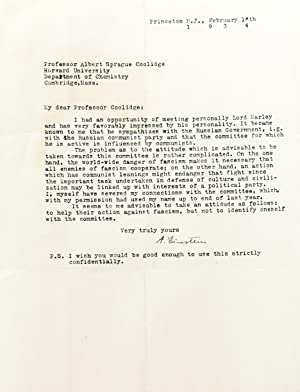 Typed Letter Signed: EINSTEIN, ALBERT