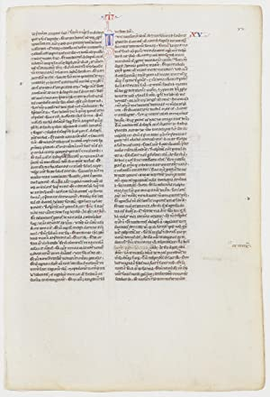 Thirteenth Century Leaf: The Feeding of Thousands, Walking on Water, The Tradition of the Elders, ...