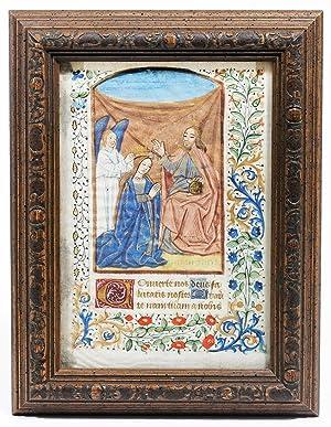 Illuminated Manuscript: Coronation of the Virgin Mary: Illuminated Manuscript