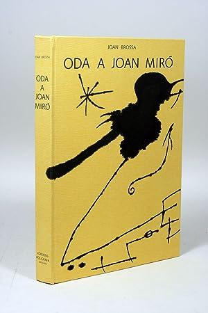 Oda a Joan Miro: MIRO, JOAN; BROSSA,