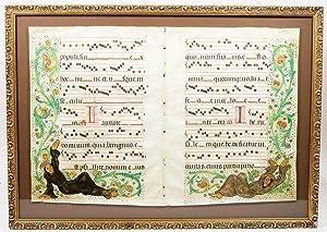 Antiphonal Leaves: ILLUMINATED MANUSCRIPT]