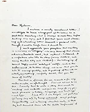Autograph Letter Signed [ALS]; Typed Letter Signed: TOLKIEN, J.R.R.