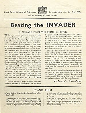 Beating the Invader: CHURCHILL, WINSTON