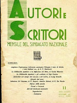 AUTORI E SCRITTORI - direttore TOMMASO FILIPPO