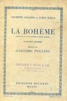LA BOHEME , quattro quadri - MUSICA: Illica Luigi, Giacosa