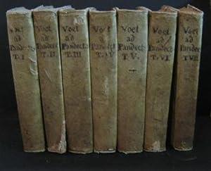 COMMENTARIUS AD PANDECTAS, in quo praeter Romani: Voet Johannis (1647-1713)