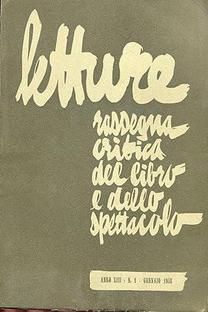 LETTURE - 1958 - rassegna mensile critica