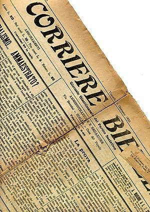 CORRIERE BIELLESE, giornale bisettimanale del partito Socialista - 1923 - 41 giornali, Biella, Tip....
