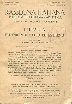 Rassegna Italiana rivista diretta da T. Sillani